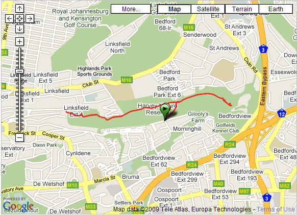 Click on map for course details